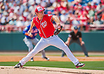 3 March 2016: Washington Nationals pitcher Max Scherzer on the mound during a Spring Training pre-season game against the New York Mets at Space Coast Stadium in Viera, Florida. The Nationals defeated the Mets 9-4 in Grapefruit League play. Mandatory Credit: Ed Wolfstein Photo *** RAW (NEF) Image File Available ***