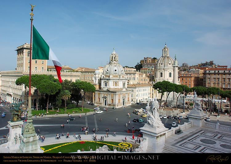 Palazzo Generali Santa Maria di Loreto Santissimo Nome di Maria Trajan's Column Quirinal Hill Piazza Venezia Rome