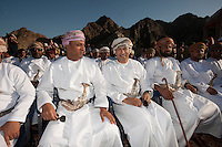 .Picture shows ; H.E Sultan bin Hamdoon Al Harthi and Rashad Mohamed Al Zubair and H.E Rashad Ahmed Al Hinai..Robert Gesink from the Rabobank Procycling team wins    The Tour of Oman .Part of a Six-stage race .20th February 2011..© Lloyd Images..
