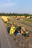 Teams from the Interior Alaska Forest Fire Academy, Eagle Trail forest fire near Tok, Alaska, May, 2010.