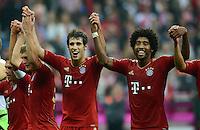 FUSSBALL   1. BUNDESLIGA  SAISON 2012/2013   2. Spieltag FC Bayern Muenchen - VfB Stuttgart      02.09.2012  Javi Martinez und Dante (v. li., FC Bayern Muenchen)