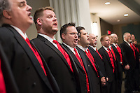 """Gateway Men's Chorus in """"Dear Future Husband"""" concert at The Sun Theater in St. Louis, Missouri on March 10, 2016."""
