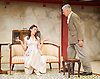 The Roundabout <br /> by JB Priestley <br /> directed by Hugh Ross<br /> at Park Theatre, London, Great Britain <br /> 24th August 2016 <br /> Press photocall <br /> <br /> <br /> Bessie Carter as Pamela Kettlewell <br /> Brian Protheroe as Lord Kettlewell <br /> <br /> Photograph by Elliott Franks <br /> Image licensed to Elliott Franks Photography Services