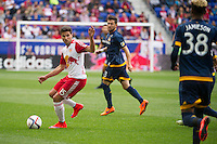 HARRISON, NJ - Sunday April 26, 2015: The New York Red Bulls tie the Los Angeles Galaxy 1-1 at home at Red Bull Arena in regular season MLS play.