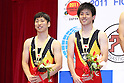 (L to R) Yasuhiro Ueyama (JPN), Takashi Sakamoto (JPN), JULY 9, 2011 - Trampoline : 2011 FIG Trampoline World Cup Series Kawasaki Men's Synchro Final at Todoroki Arena, Kanagawa, Japan. (Photo by YUTAKA/AFLO SPORT) [1040]