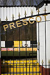 Prescot Cables 2 Brighouse Town 1, 13/02/2016. Hope Street, Northern Premier League. An exterior view of the stadium pictured before Prescot Cables played Brighouse Town in a Northern Premier League division one north fixture at Valerie Park. Founded in 1884, the 'Cables' in their name came from the largest local employer, British Insulated Cables and they have played in their current ground, also known as Hope Street, since 1906. Prescott won the match 2-1 watched by a crowd of 189. Photo by Colin McPherson.