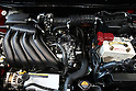 June 9, 2010 - Yokohama, Japan - The engine of the new compact crossover 'Juke' is pictured at the company's headquarters in Yokohama, on June 9, 2010. Nissan said it is aiming to sell 1,300 units per month with starting price of 1.69 million yen (18,500 dollars). 'Juke', which combines features of a sports car and sport utility vehicle, will also be sold in Europe and the U.S. this autumn.