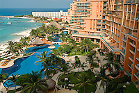 The elegant Fiesta Americana Grand Coral Beach Cancun Resort and Spa 600 room resort located just west of the northernmost point of Cancun's Hotel Zone is the only hotel in Mexico to have earned the coveted AAA Five Diamond Award for 15 consecutive years.