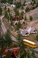 Wasco, Oregon, February 1984:  Rajneeshpuram, was an intentional community in Wasco County, Oregon, briefly incorporated as a city in the 1980s, which was populated with followers of the spiritual teacher Osho, then known as Bhagwan Shree Rajneesh. The community was developed by turning a ranch from an empty rural property into a city complete with typical urban infrastructure, with population of about 7000 followers.