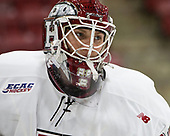 Cameron Gornet (Harvard - 32) - The Harvard University Crimson defeated the St. Lawrence University Saints 6-3 (EN) to clinch the ECAC playoffs first seed and a share in the regular season championship on senior night, Saturday, February 25, 2017, at Bright-Landry Hockey Center in Boston, Massachusetts.