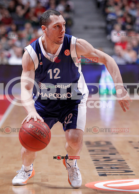 Mapooro Cantu's Nicolas Mazzarino during Euroleague 2012/2013 match.November 1,2012. (ALTERPHOTOS/Acero) /NortePhoto