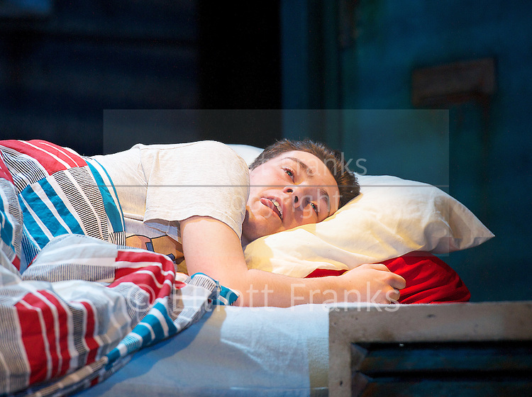 Beautiful Thing<br /> by Jonathan Harvey <br /> at the Art's Theatre, London, Great Britain <br /> press photocall<br /> 16th April 2013 <br /> <br /> Jake Davies as Jamie<br /> Danny-Boy Hatchard as Ste<br /> Suranne Jones as Sandra<br /> Oliver Farnworth as Tony <br /> Zaraah Abrahams as Leah <br /> <br /> <br /> Photograph by Elliott Franks