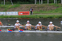 Amsterdam, NETHERLANDS,USA BLM4X,  2011 FISA U23 World Rowing Championships, Wednesday, 20/07/2011 [Mandatory credit:  Intersport Images].