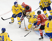 David Rundblad (Sweden - 7), Tyler Ennis (Canada - 22), Jacob Markstr&ouml;m (Sweden - 25), Brett Sonne (Canada - 12) - Canada defeated Sweden 5-1 (2 en) in the 2009 World Junior Championship gold medal game on Monday, January 5, 2009, at Scotiabank Place in Kanata (Ottawa), Ontario.  This was the second consecutive year that Canada won gold and Sweden won silver after Canada defeated Sweden in overtime in 2008 and was Canada's fifth consecutive gold.