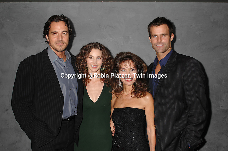 Thorsten Kaye, Alicia Minshew, Susan Lucci  and Cameron Mathison..at The Surprise 70th Birthday Party for All My Children's star Susan Lucci's husband Helmet Huber on October 10, 2007 at The Rainbow Room ....Photo by Robin Platzer, Twin images....212-935-0770