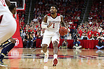 25 January 2015: NC State's Trevor Lacey. The North Carolina State University Wolfpack played the University of Notre Dame Fighting Irish in an NCAA Division I Men's basketball game at the PNC Arena in Raleigh, North Carolina. Notre Dame won the game 81-78 in overtime.
