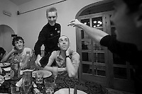 stage winner Lars Bak celebrated in the hotel