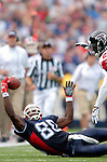 25 September 2005: Eric Moulds (80), Wide Receiver for the Buffalo Bills, is unable to make the pass reception because of close coverage by DeAngelo Hall (21) during a game against the Atlanta Falcons. The Falcons defeated the Bills 24-16 at Ralph Wilson Stadium in Orchard Park, NY.<br /><br />Mandatory Photo Credit: Ed Wolfstein.