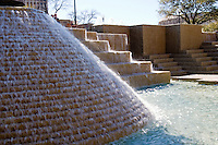 Waterfalls at Hemisfair Park in San Antonio, Texas, USA.
