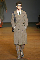 Abaih walks runway in an outfit from the Marc by Marc Jacobs Fall/Winter 2011 collection, during New York Fashion Week, Fall 2011.