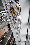 The largest mechanical clock in the world, designed by Jean Kazès, at the Hotel Cornavin in Geneva, Switzerland