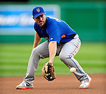29 September 2009: New York Mets' third baseman David Wright warms up prior to a game against the Washington Nationals at Nationals Park in Washington, DC. The Nationals rallied to defeat the Mets 4-3 in the second game of their final 3-game home series. Mandatory Credit: Ed Wolfstein Photo
