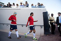 Julie Johnston, Shannon Boxx.  The USWNT defeated Scotland, 4-1, during a friendly at EverBank Field in Jacksonville, Florida.