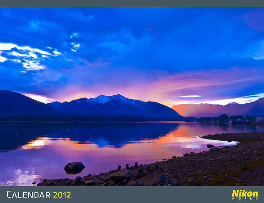 This is the cover of the 2012 Nikon calendar, shot near Petersburg, Alaska.