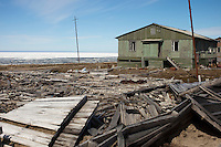 Kharsavey,Yamal Peninsula, Russia, 10/07/2010..Dilapidated buildings of the Karsk Expedition, the last attempt to colonise the Russian Arctic, abandoned during the 1997 Russian financial crisis.