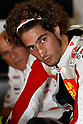 July 2, 2010 - Marco Simoncelli takes a break in his box during the Catalunya Grand Prix on July 2, 2010. (Photo Andrew Northcott/Nippon News).