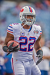 14 September 2014: Buffalo Bills running back Fred Jackson warms up prior to facing the Miami Dolphins at Ralph Wilson Stadium in Orchard Park, NY. The Bills defeated the Dolphins 29-10 to win their home opener and start the season with a 2-0 record. Mandatory Credit: Ed Wolfstein Photo *** RAW (NEF) Image File Available ***
