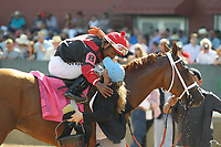 HOT SPRINGS, AR - APRIL 15: Whitmore #8, with Ricardo Santanta, Jr. aboard after winning the Count Fleet Sprint Handicap at Oaklawn Park on April 15, 2017 in Hot Springs, Arkansas. (Photo by Justin Manning/Eclipse Sportswire/Getty Images)