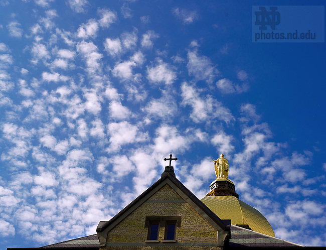 May 25, 2012; Dome and clouds..Photo by Matt Cashore/University of Notre Dame