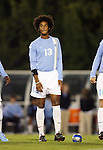 11 October 2007: UNC's Ryan Adeleye. The University of North Carolina Tar Heels defeated the Duke University Blue Devils 1-0 in overtime at Fetzer Field in Chapel Hill, North Carolina in an Atlantic Coast Conference NCAA Division I Men's Soccer game.