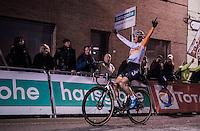 Marianne Vos (NED) wins in her 2nd race back after a 2 year hiatus<br /> <br /> Elite Women's race<br /> Superprestige Diegem 2016