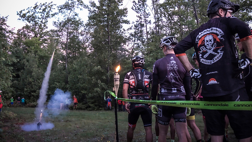 Starting line of the Marji Gesick 100 in Marquette County, Michigan.