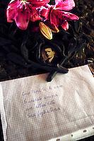 Roma 15 Giugno 2007.Omaggio ai Martiri delle Fosse Ardeatine, dopo la sentenza del Tribunale Militare che permette ad Herich Priebke,condannato per l'eccidio delle Fosse Ardeatine di uscire dagli arresti domiciliari per andare al lavoro..Rome June 15, 2007.Tribute to the martyrs at the Fosse Ardeatine, after the ruling of the Military Tribunal that allows at Heric Priebke, convicted for the massacre of the Fosse Ardeatine  to get out of the domiciliary arrests to go to the job.
