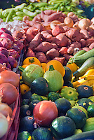 Farm-fresh produce fresh, vegetables, Squash, Potatoes, Onions, Yams