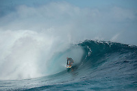 Namotu Island Resort, Namotu, Fiji. (Wednesday May 28, 2014) Shane Dorian (HAW) –  The Fiji Women's Pro, Stop No. 5 of 10 on the 2014  Women's World Championship Tour (WCT) was called on today  at Resturants despite a rising swell at Cloudbreak. 6'-8' south swell.  A  free surf session went down all day at Cloudbreak with some amazing barrels with the swell pushing 8'-10' by late afternoon. Photo: joliphotos.com