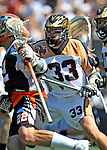 24 August 2008: Rochester Rattlers' Defenseman Solomon Bliss (33) in action against the Denver Outlaws during the Championship Game of the Major League Lacrosse Championship Weekend at Harvard Stadium in Boston, MA. The Rattles defeated the Outlaws 16-6 to take the league honor for the 2008 season...Mandatory Photo Credit: Ed Wolfstein Photo