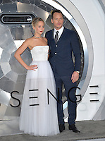 Actors Jennifer Lawrence &amp; Chris Pratt at the world premiere of &quot;Passengers&quot; at the Regency Village Theatre, Westwood. <br /> December 14, 2016<br /> Picture: Paul Smith/Featureflash/SilverHub 0208 004 5359/ 07711 972644 Editors@silverhubmedia.com