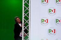 Roma  5  Novembre 2011.Manifestazione Nazionale del Partito Democratico  contro il Govermo Berlusconi. Paola Concia, dietro il palco.Demonstration  by the Italian main opposition Democratic Party (PD) against Italian prime minister Silvio Berlusconi's government.