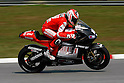 February 4, 2010 - Kuala Lampur, Malaysia - American rider Nicky Hayden (Ducati Marlboro) powers his bike for testing on Sepang International Circuit on February 4, 2010. (Photo Andrew Northcott/Nippon News)
