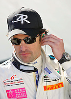 Actor/driver Patrck Dempsey prepares for the Rolex 24 at Daytona , Daytona International Speedway, Daytona Beach, FL, January 2009.  )Photo by Brian Cleary)