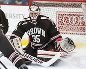 Tyler Steel (Brown - 35) - The visiting Brown University Bears defeated the Harvard University Crimson 2-0 on Saturday, February 22, 2014 at the Bright-Landry Hockey Center in Cambridge, Massachusetts.