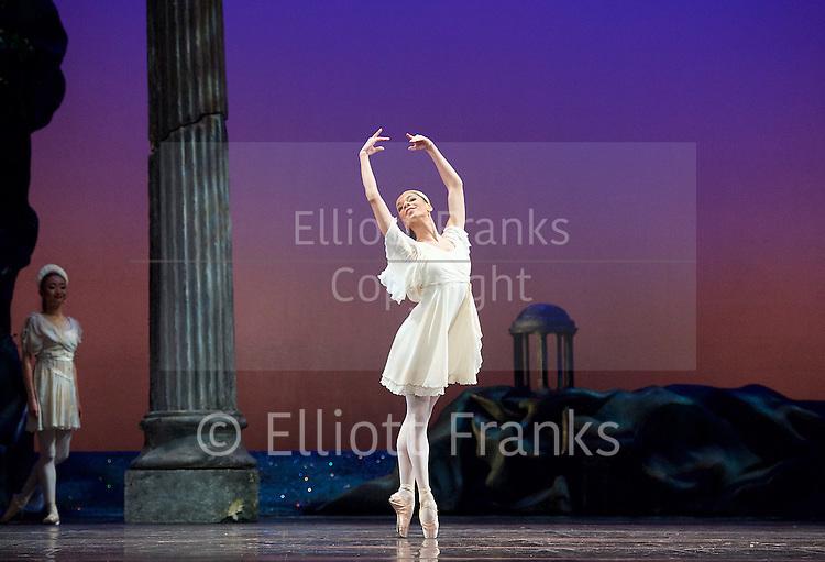 Sylvia<br /> Birmingham Royal Ballet <br /> choreography by David Bentley <br /> at the Birmingham Hippodrome, Birmingham, Great Britain<br /> rehearsal <br /> 23rd June 2015 <br /> <br /> <br /> Celine Gittens as Diana<br /> <br /> <br /> <br /> Photograph by Elliott Franks <br /> Image licensed to Elliott Franks Photography Services