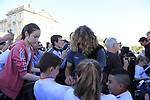 Daniel Oss (ITA) BMC Racing Team signs autographs for fans at the Team Presentation for the upcoming 115th edition of the Paris-Roubaix 2017 race held in Compiegne, France. 8th April 2017.<br /> Picture: Eoin Clarke | Cyclefile<br /> <br /> <br /> All photos usage must carry mandatory copyright credit (&copy; Cyclefile | Eoin Clarke)