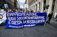Roma 17 Maggio 2014<br /> Manifestazione nazionale  contro la privatizzazione dei beni comuni, contro i piani del governo di riforma del mercato del lavoro e contro le grandi opere.<br /> Rome May 17, 2014 <br /> National demonstration against the privatization of the commons, against the government&rsquo;s plans to reform job market  and against the great works.