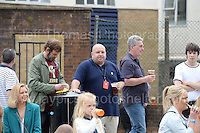 Visitors at the event including the event organiser Lyn Williams (centre with official pass) during the Merthyr Rising Festival 2016 in Merthyr Tydfil on Saturday June 4th and Sunday June 5th 2016. <br /> <br /> <br /> Jeff Thomas Photography -  www.jaypics.photoshelter.com - <br /> e-mail swansea1001@hotmail.co.uk -<br /> Mob: 07837 386244 -