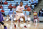 21 March 2015: Ohio State's Ameryst Alston. The Ohio State University Buckeyes played the James Madison University Dukes at Carmichael Arena in Chapel Hill, North Carolina in a 2014-15 NCAA Division I Women's Basketball Tournament first round game.